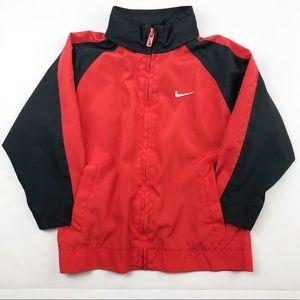 Nike Windbreaker jacket with hood Red Black 3T